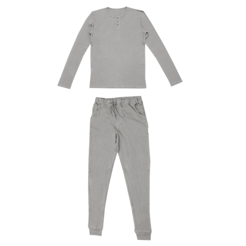Men's Organic Thermal L/Sleeve Set in Mist