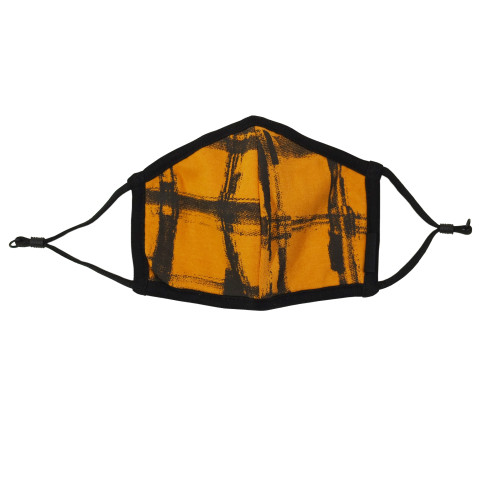 Reversible Organic Face Mask in Butternut Plaid