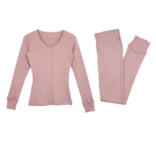 Women's Organic Lounge Set in Mauve, Flat