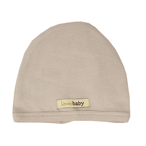 Organic Cute Cap in Oatmeal, Flat