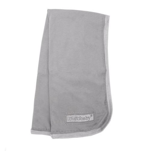 Velveteen Blanket in Light Gray, Flat