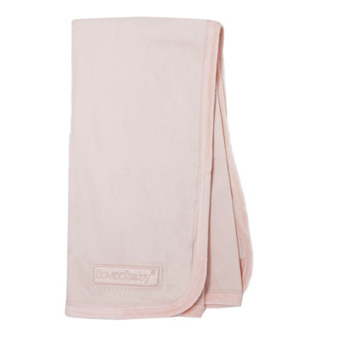 Velveteen Blanket in Blush, Flat