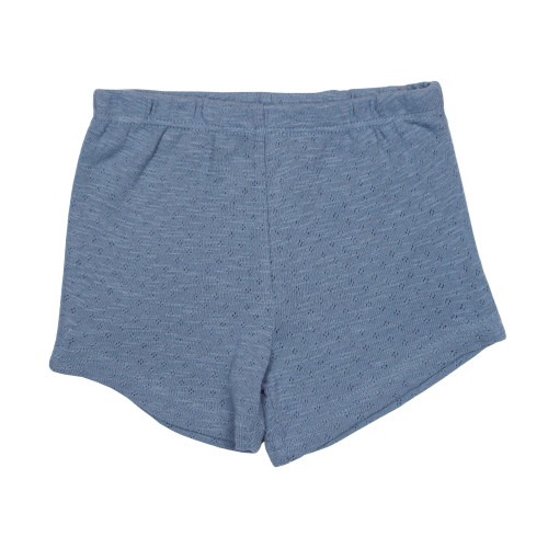 Kid's Pointelle Tap Shorts in Pool, Flat