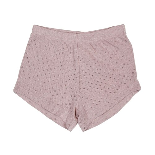 Pointelle Tap Shorts in Thistle, Flat