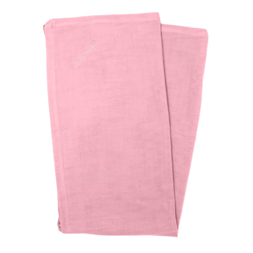 Organic Muslin Security Blanket in Peony, Flat