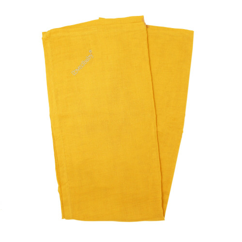 Organic Muslin Security Blanket in Saffron, Flat