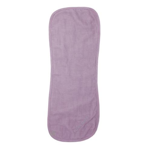 Organic Reversible Muslin Burp Cloth in Amethyst, Flat