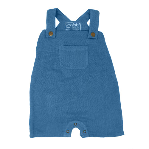 Organic Muslin Overall in Pacific, Flat