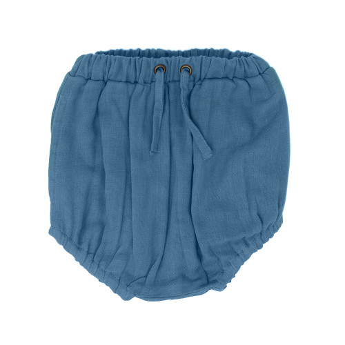 Organic Muslin Shorties in Pacific, Flat