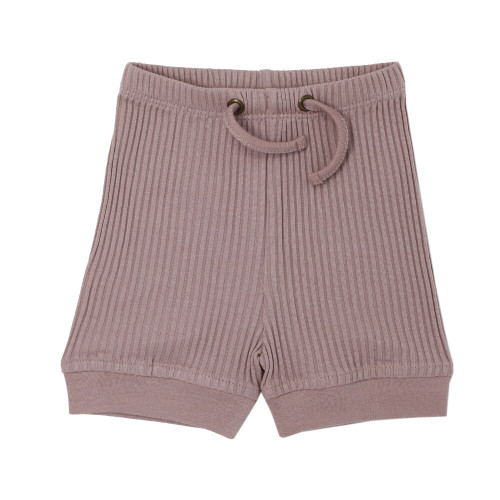 Ribbed Bike Short in Thistle, Flat