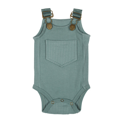 Ribbed Bodysuit in Jade