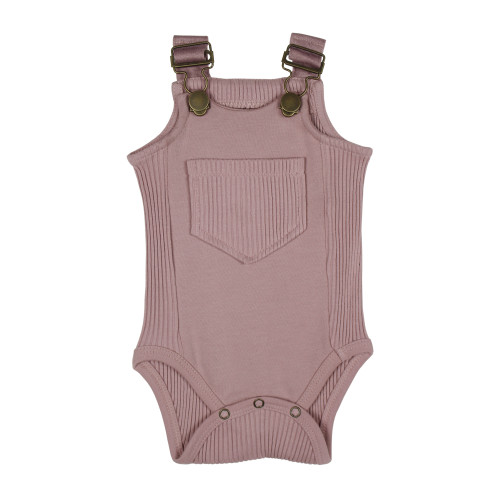 Ribbed Bodysuit in Thistle