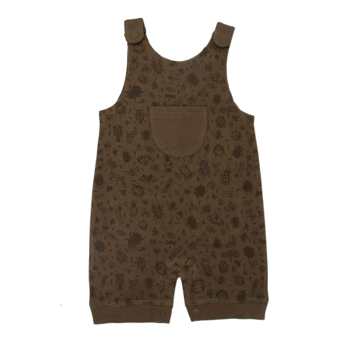 Printed Sleeveless Romper in Don't Bug Me! (Bark), Flat