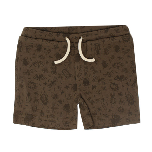 Kids' Printed Summer Shorts in Don't Bug Me! (Bark), Flat