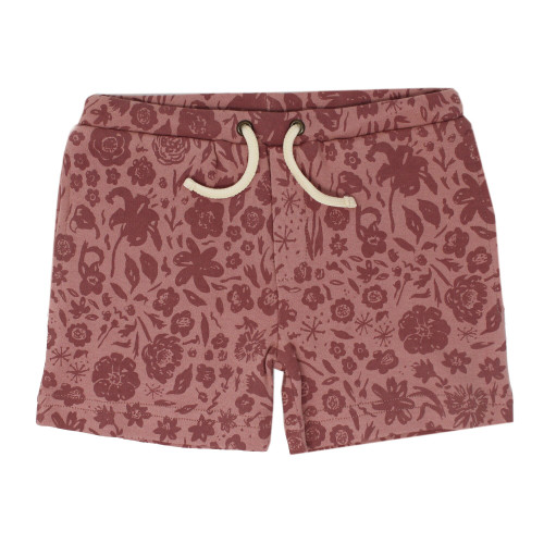Printed Summer Shorts in What In Carnation? (Mauve), Flat