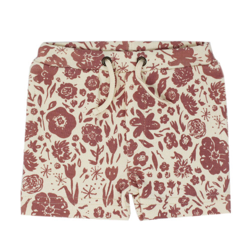 Printed Summer Shorts in What In Carnation? (Beige), Flat
