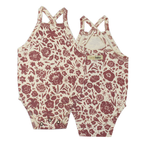 Printed Criss-Cross Bodysuit in What In Carnation? (Beige), Flat