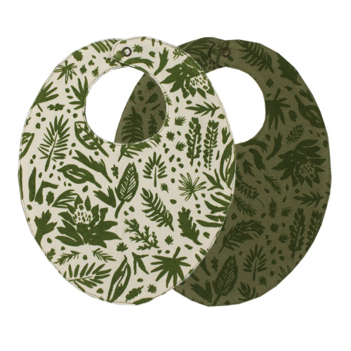 Printed Reversible Bib in Get Clover It!, Flat