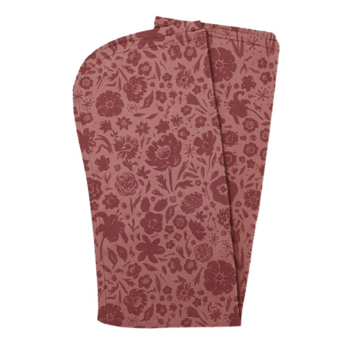 Organic Swaddling Blanket, Print in What In Carnation? (Mauve), Flat