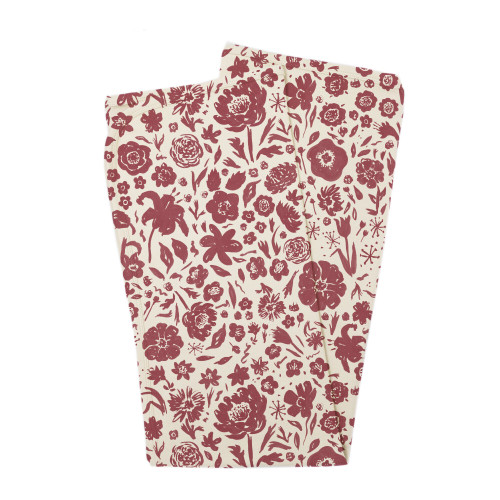 Organic Swaddling Blanket, Print in What In Carnation? (Beige), Flat