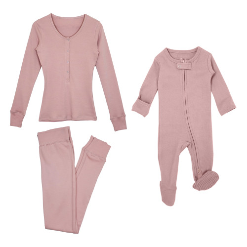 Mommy & Me Bundle in Mauve, Flat