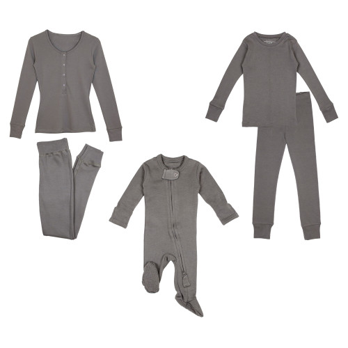 Mommy & Me...& Me Bundle in Gray, Flat