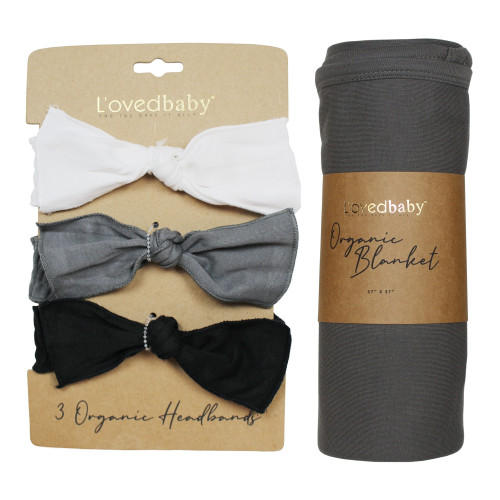 Wrapped-in-L'ove Gift Set in Black & White, Flat