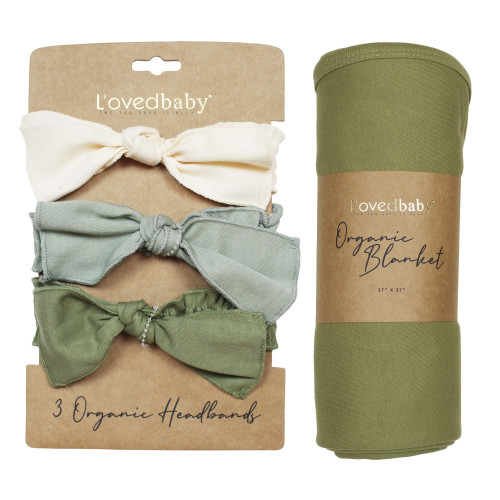 Wrapped-in-L'ove Gift Set in Greens, Flat