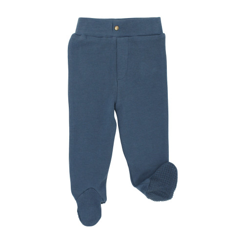 Organic Footed Pant in Abyss, Flat