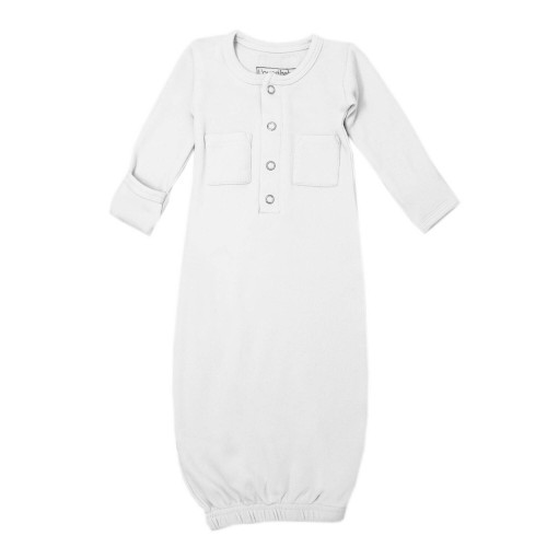 Organic Gown in White, Flat