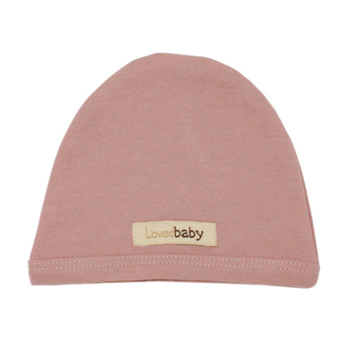 Organic Cute Cap in Mauve, Flat