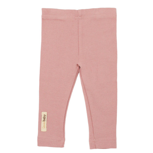 Organic Leggings in Mauve, Flat