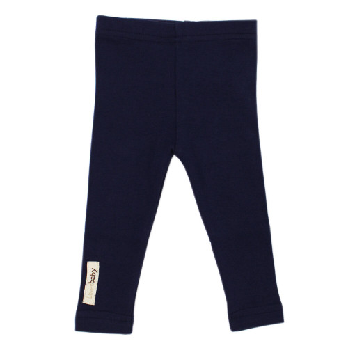 Organic Leggings in Navy, Flat