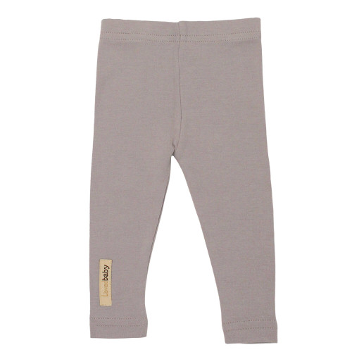 Organic Leggings in Light Gray, Flat