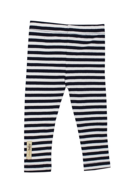 Organic Kids' Leggings in Navy/White