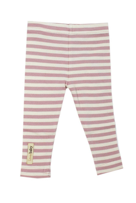 Organic Leggings in Mauve/Beige, Flat
