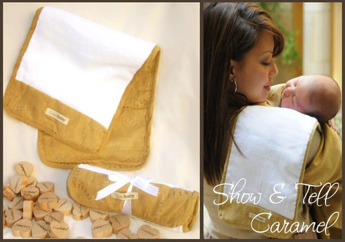 Burp Cloth Plush in Caramel, Flat