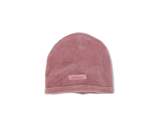Organic Velour Cute Cap in Mauve, Flat