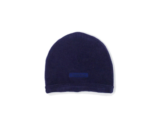 Organic Velour Cute Cap in Navy, Flat