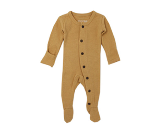 Organic Thermal Footed Overall in Topaz, Flat