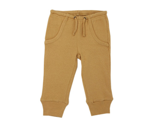 Organic Thermal Kids' Jogger Pants in Topaz, Flat