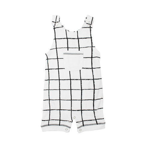 Organic Sleeveless Romper in Hopscotch, Flat