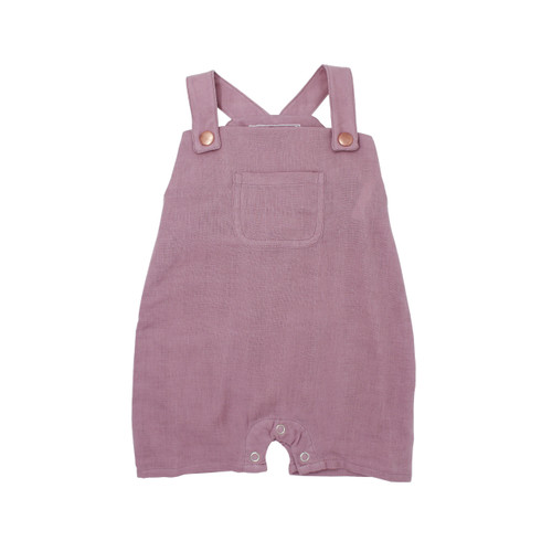 Organic Muslin Overall in Lavender, Flat