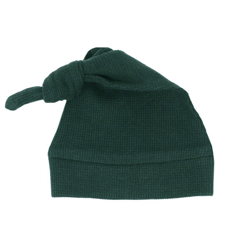 Organic Thermal Knotted Cap in Pine, Flat