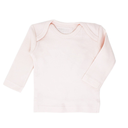 Organic L/Sleeve Shirt in Blush, Flat