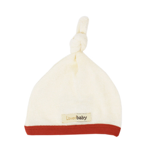 Terry Cloth Top-Knot Cap in Maple, Flat