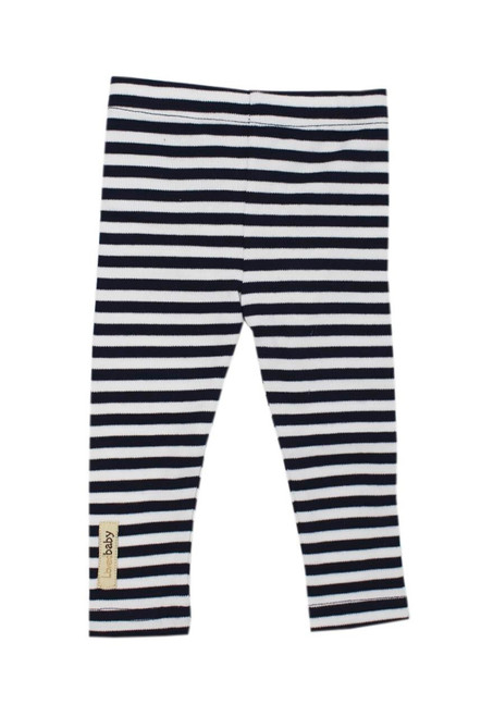 Organic Leggings in Navy/White, Flat