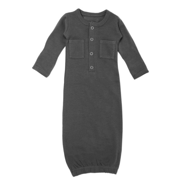 Organic Gown in Gray, Flat
