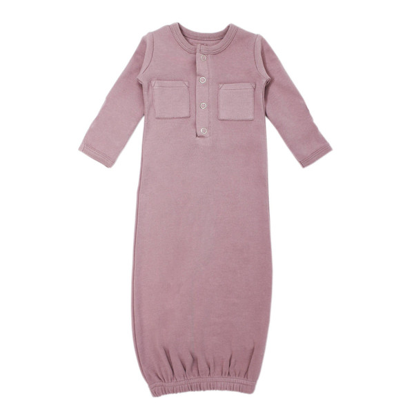 Organic Gown in Lavender, Flat