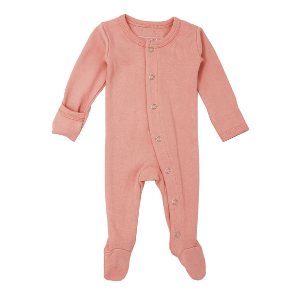Organic Jumpsuit in Coral, Flat